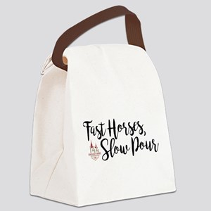 KY Derby 144 Fast Horses Canvas Lunch Bag