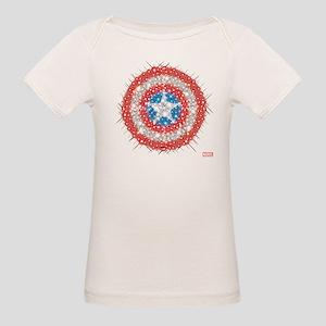 Captain America Shield Bling Organic Baby T-Shirt