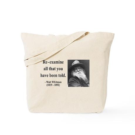 Walter Whitman 11 Tote Bag
