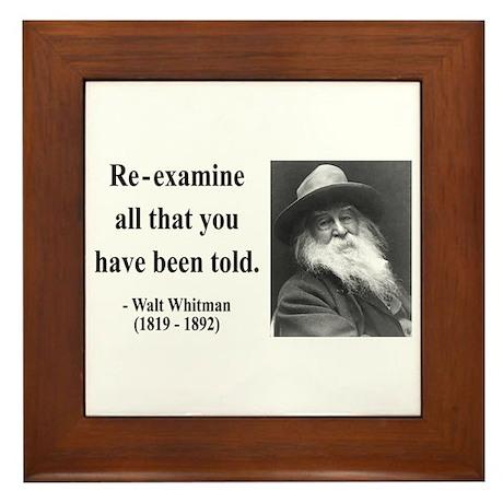 Walter Whitman 11 Framed Tile