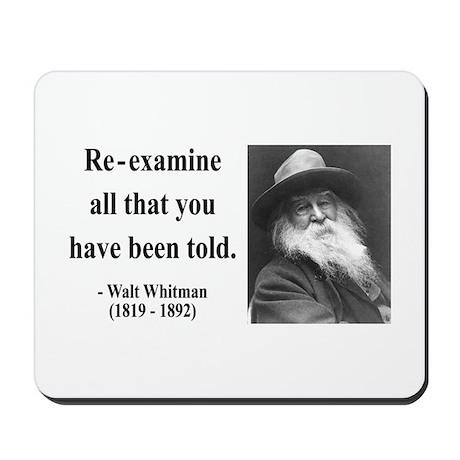 Walter Whitman 11 Mousepad