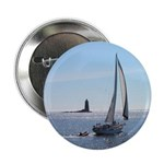 "Sailboat off Whaleback Light 2.25"" Button (10 pack"