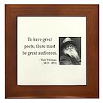 Walter Whitman 12 Framed Tile