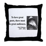 Walter Whitman 12 Throw Pillow