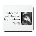 Walter Whitman 12 Mousepad