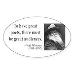 Walter Whitman 12 Oval Sticker