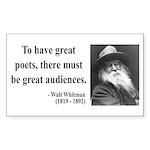 Walter Whitman 12 Rectangle Sticker
