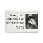 Walter Whitman 12 Rectangle Magnet (100 pack)