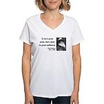 Walter Whitman 12 Women's V-Neck T-Shirt