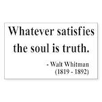 Walter Whitman 13 Rectangle Sticker