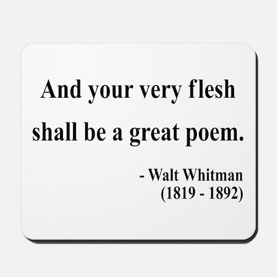 Walter Whitman 14 Mousepad