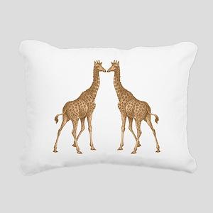 Giraffe Love Rectangular Canvas Pillow