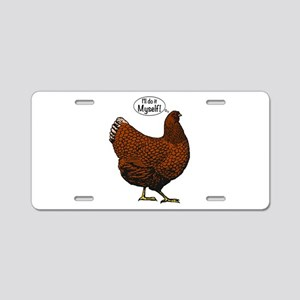 Little Red Hen Aluminum License Plate
