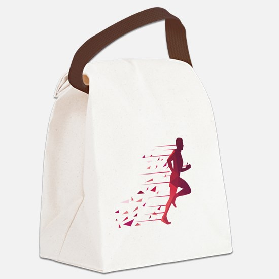 Running man Canvas Lunch Bag