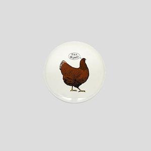 Little Red Hen Mini Button