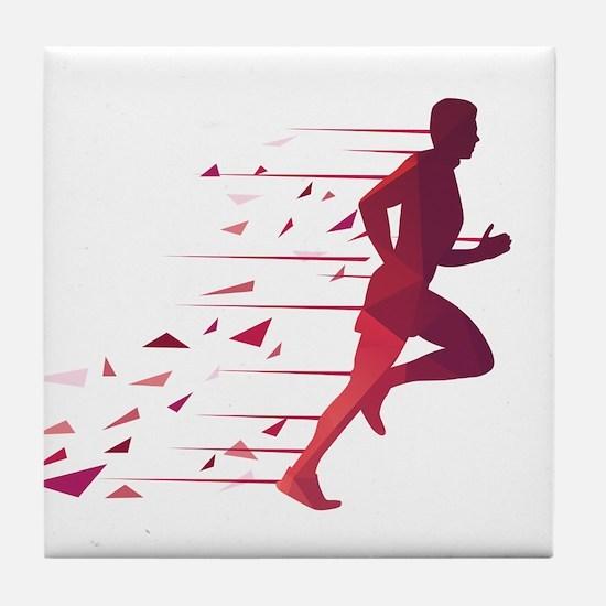 Running man Tile Coaster