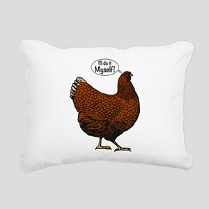 Little Red Hen Rectangular Canvas Pillow