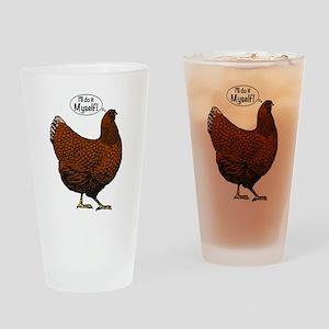 Little Red Hen Drinking Glass