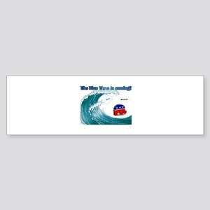 Blue Wave Is Coming Bumper Sticker