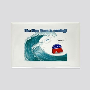Blue Wave Is Coming Magnets