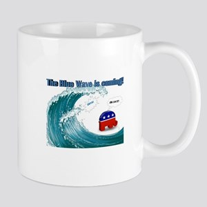 Blue Wave Is Coming Mugs