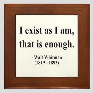 Walter Whitman 18 Framed Tile