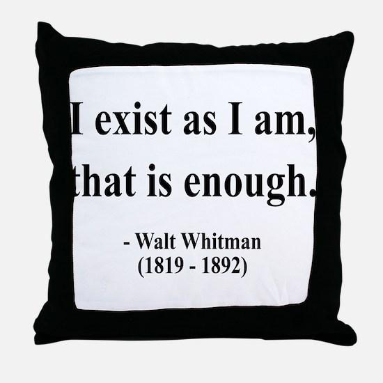 Walter Whitman 18 Throw Pillow