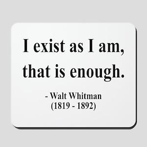Walter Whitman 18 Mousepad