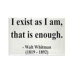 Walter Whitman 18 Rectangle Magnet (100 pack)