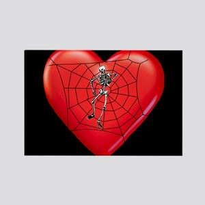 Spider Heart Valentine Rectangle Magnet