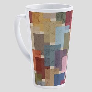 Mid Century Modern Squares 17 oz Latte Mug