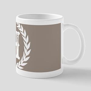 Beige Monogram: Letter H 11 oz Ceramic Mug
