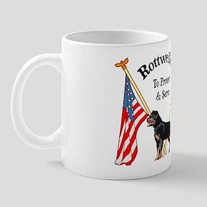 Rottweiler To Protect & Serve Mug