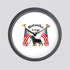 Rottweiler To Protect & Serve Wall Clock