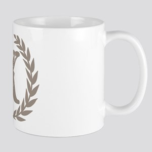 Beige Monogram: Letter K 11 oz Ceramic Mug