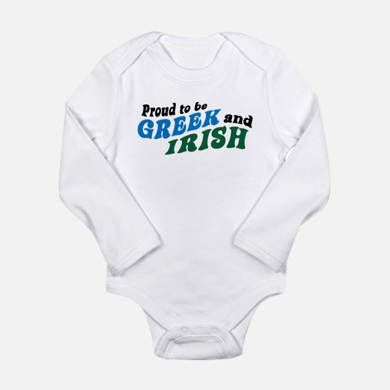 Proud Greek and Irish Infant Bodysuit Body Suit
