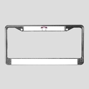 Hot Pink Flamingos License Plate Frame
