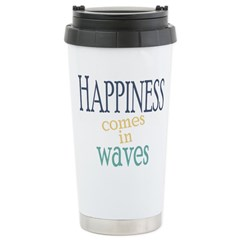 Happiness Comes in Waves Mugs