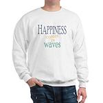 Happiness Comes in Waves Sweatshirt