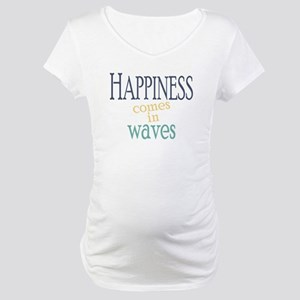 Happiness Comes in Waves Maternity T-Shirt