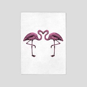 Hot Pink Flamingos 5'x7'Area Rug