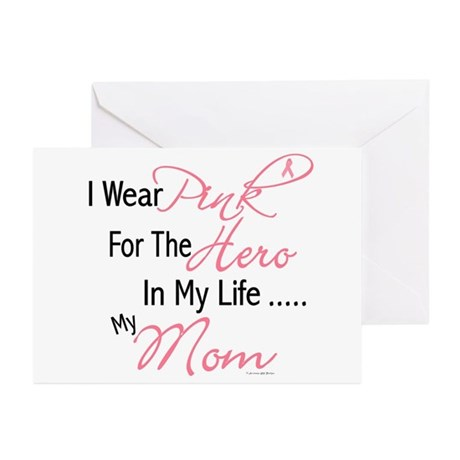 Pink For My Hero 1 (Mom) Greeting Cards (Pk of 20)