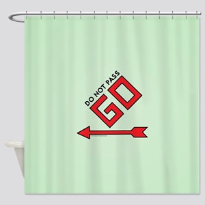 Monopoly - Do Not Pass Go Shower Curtain