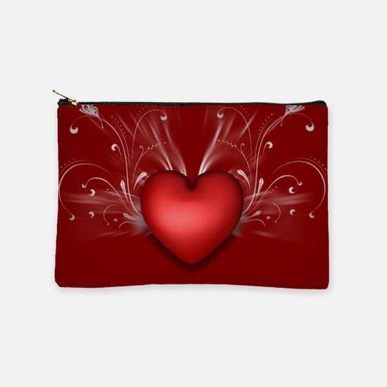 Red Heart Makeup Bag