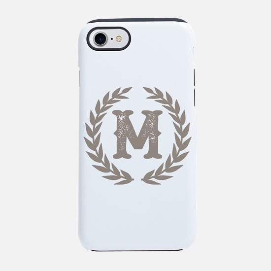 Beige Monogram: Letter M iPhone 8/7 Tough Case