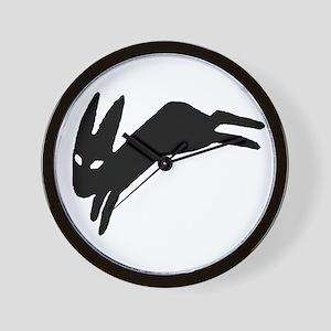 Black Rabbit Wall Clock