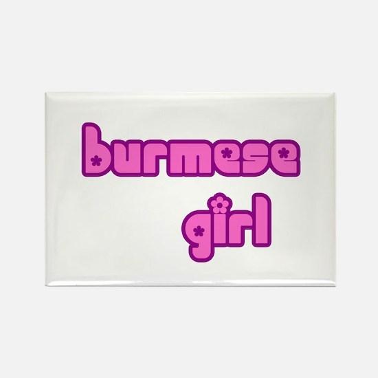 Burmese Girl Cute Burma Rectangle Magnet