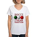 Bocce Women's V-Neck T-Shirt