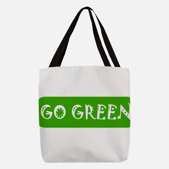 Go Green! Polyester Tote Bag