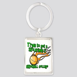 Funny Basketball College Scholarship Keychains